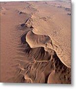 Transverse Sand Dune Namib-naukluft Np Metal Print