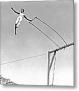 Trapeze Artist On The Swing Metal Print