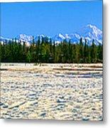 Trapper Creek And Mount Mckinley, Alaska Metal Print