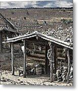 Trapper Dan's Log Cabins Metal Print