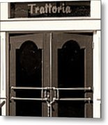 Trattoria Door Palm Springs Metal Print