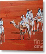 Travel By Camels Metal Print