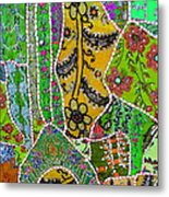Travel Shopping Colorful Tapestry 8 India Rajasthan Metal Print