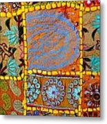 Travel Shopping Colorful Tapestry 9 India Rajasthan Metal Print