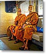 Traveling Monks Metal Print