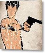 Travis Bickle - Robert De Niro Metal Print by Ayse Deniz