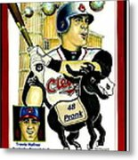 Travis Hafner Grand Slam Metal Print