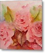 Tre Rose Metal Print