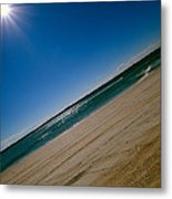 Treads In The Sand Metal Print