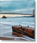 Treasure And The Golden Gate Bridge Metal Print by Sarit Sotangkur