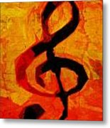 Treble Distressed Metal Print