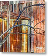 Tree And Rust Metal Print