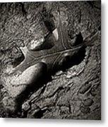 Tree Bark And Leaf Metal Print