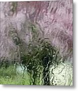 Tree Blossoms In The Rain Metal Print