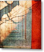 Tree Branches Shadow On Wall Metal Print