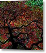 Tree Fabrica Abstract Graphic Metal Print