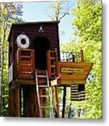 Tree House Boat 2 Metal Print