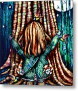 Tree Hugs Metal Print