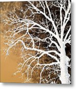 Tree In Abstract Metal Print