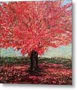 Tree In Fall Metal Print