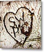 Tree Initials Metal Print