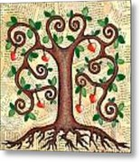 Tree Of Hearts Metal Print by Lisa Frances Judd