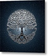 Tree Of Life Nova Blue Metal Print