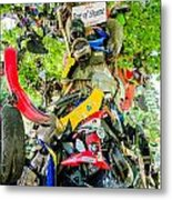 Tree Of Shame Near Tail Of Dragon Road In Nc Metal Print