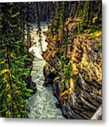 Tree On The Edge Of A Cliff Metal Print