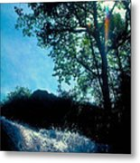 Tree Planted By Streams Of Water Metal Print
