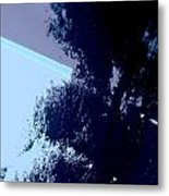 Tree Reflection Abstract Metal Print