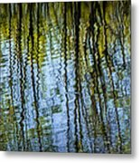 Tree Reflections On A Pond In West Michigan Metal Print