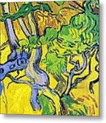 Tree Roots And Tree Trunks Metal Print by Vincent Van Gogh