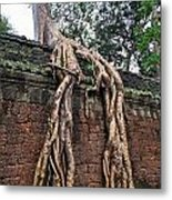 Tree Roots On Ruins At Angkor Wat Metal Print