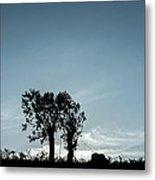 Tree Silhouette II Metal Print