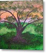 Tree Strong Metal Print