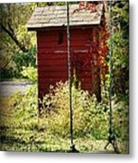 Tree Swing By The Outhouse Metal Print