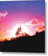 Tree Top Sunrise Metal Print