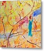 Tree Walking Metal Print