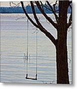 Tree With A Swing Metal Print