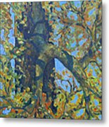 Tree With Green Leaves Metal Print