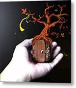 Treeclock Metal Print by Racquel Delos Santos