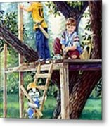 Treehouse Magic Metal Print