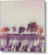 Trees Across The River Metal Print