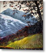 Trees And Hills Metal Print