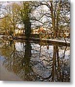 Trees Beside The Wintry Rolleston Pond Metal Print
