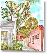 Trees Between Two Houses In West Hollywood - California Metal Print