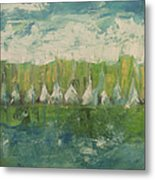 Trees By The River Metal Print