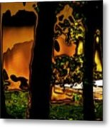 Melted Sunset Abstract Metal Print