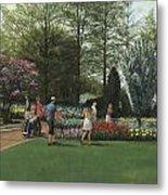 St. Louis Botanical Garden Trees Metal Print